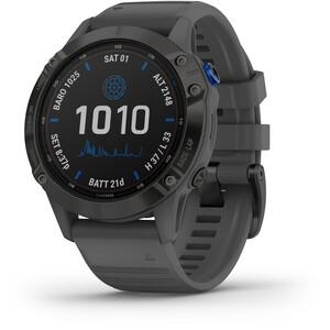 Garmin Fenix 6 Pro Solar GPS Smartwatch, noir/gris noir/gris