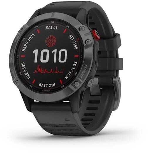 Garmin Fenix 6 Pro Solar GPS Smartwatch blackslate grey