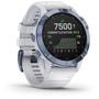 Garmin Fenix 6 Pro Solar GPS Smartwatch stone white/blue titan