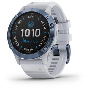 Garmin Fenix 6 Pro Solar GPS Smartwatch stone white/blue titan stone white/blue titan