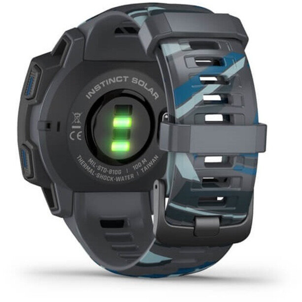 Garmin Instinct Solar Surf GPS Smartwatch, harmaa/sininen