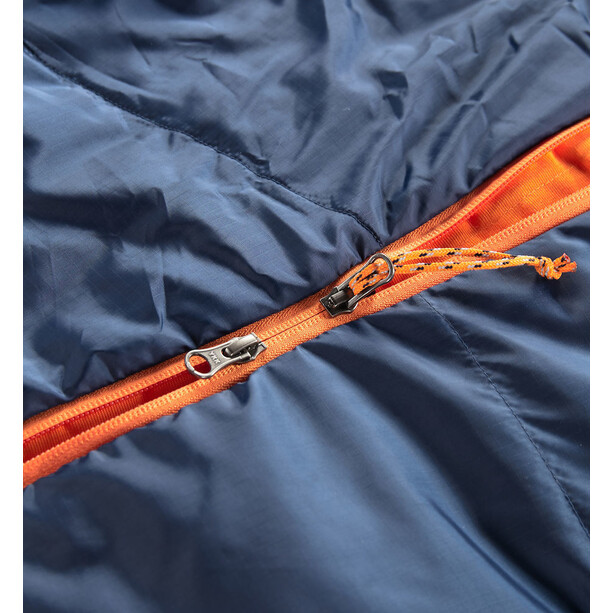 Haglöfs Tarius +1 Sleeping Bag 205cm midnight blue/tangerine
