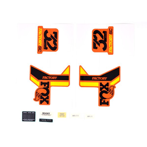 Fox Racing Shox Decal Kit for 32 SC F-S black/yellow/shiny orange black/yellow/shiny orange