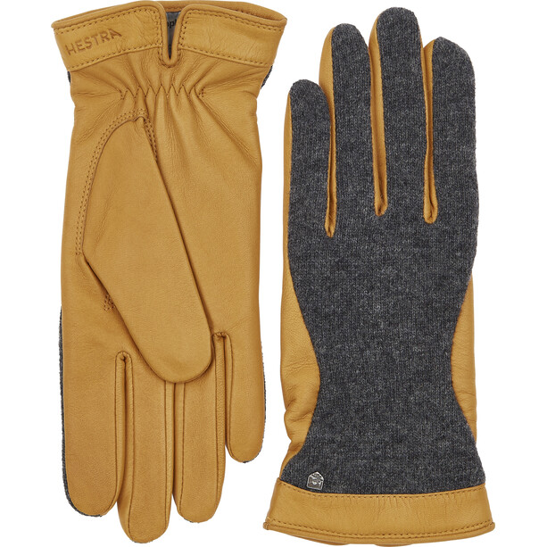 Hestra Saga Handschuhe charocoal/camel
