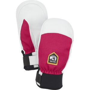 Hestra Army Leather Patrol Fäustlinge Kinder weiß/pink weiß/pink