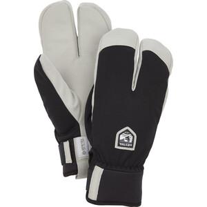 Hestra W.S Wool Terry Split Mittens svart/vit svart/vit