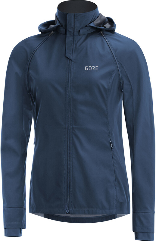 GORE WEAR R3 Gore Windstopper Zip-Off Jacke Damen deep water blue/black Laufjacken
