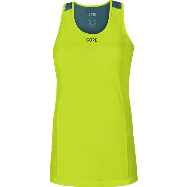 GORE WEAR R7 Sleeveless Top Women citrus green/dark nordic blue