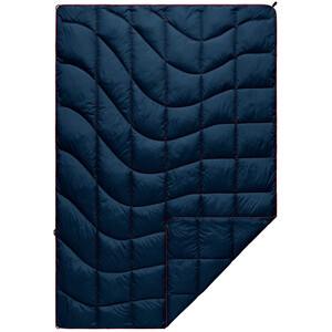 Rumpl Solid Nanoloft Puffy Blanket Travel, sininen sininen