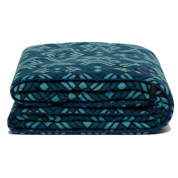 Rumpl Polar Puffy Fleece Decke blau/petrol