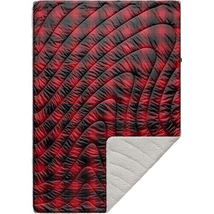 Rumpl Printed Sherpa Puffy Decke 1P rot/schwarz rot/schwarz