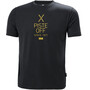 Helly Hansen Skog Graphic T-Shirt Herren ebony