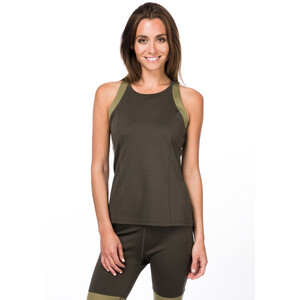 super.natural Rundhals Top Damen killer khaki/bamboo killer khaki/bamboo