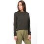 super.natural Super Crop Sweater Women, oliivi