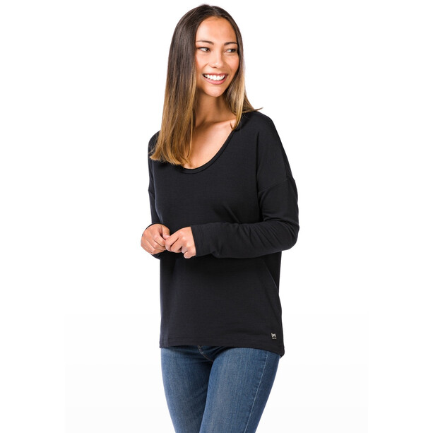 super.natural City Overshirt Damen jet black