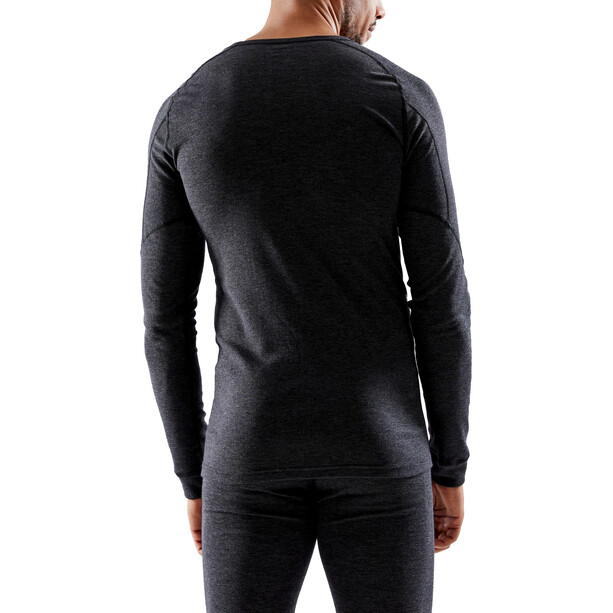 Craft Core Wool Merino Baselayer Set Men black melange