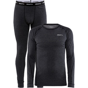 Craft Core Wool Merino Baselayer Set Men black melange black melange