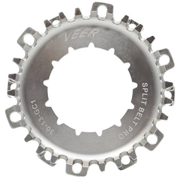 Veer Split Belt Pro Hintere Riemenscheibe Rohloff 13-Spline silver