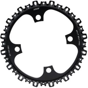 Veer Split Belt Pro Vordere Riemenscheibe 4-Loch Ø104mm schwarz schwarz