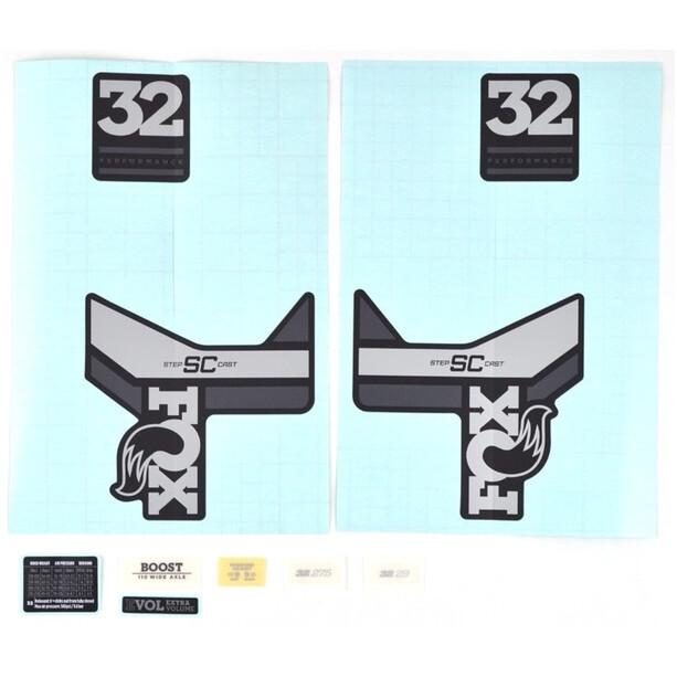 Fox Racing Shox Sticker Set für 32 SC P-S grey/matte black