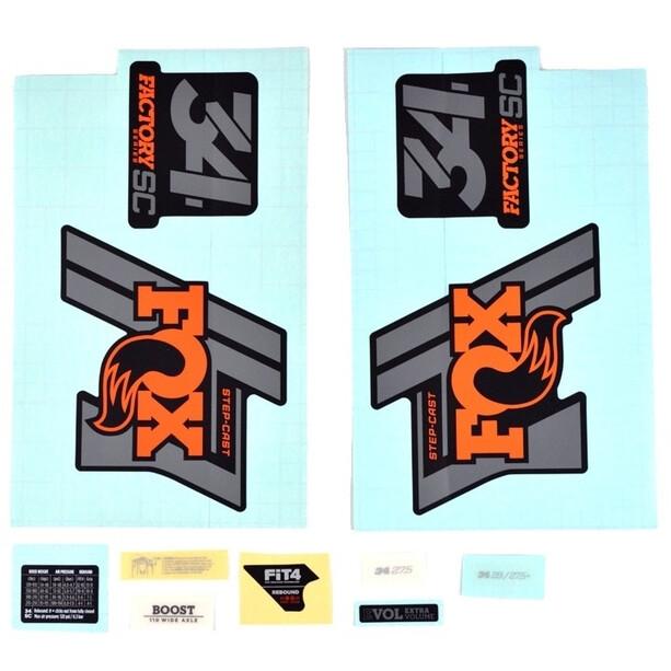 Fox Racing Shox Sticker Set für 34 SC Factory orange/schwarz