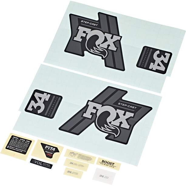 Fox Racing Shox Decal Kit for 34 SC P-S matte black