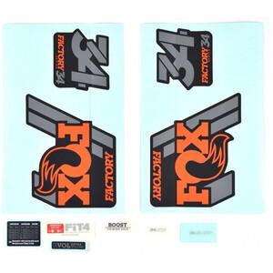 Fox Racing Shox Decal Kit for 34 F-S オレンジ/シャイニーブラック