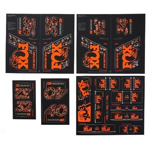 Fox Racing Shox AM Heritage Decal Kit for Fork and Shock svart/orange svart/orange