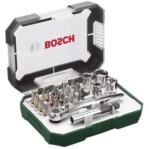 Bosch Schrauberbit-Set mit Ratsche 26-teilig
