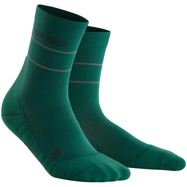 cep Reflective Mid Cut sokker Damer, grøn
