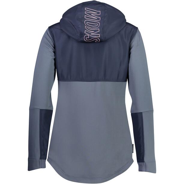 Mons Royale Decade Tech Mid Hoody Jacket Women grå/svart