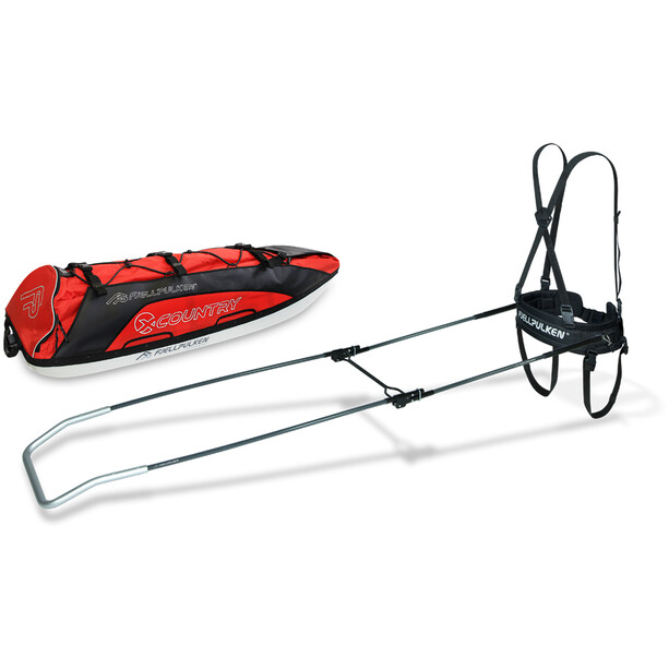 Fjellpulken Xcountry 118 Touring Pulk Complete red