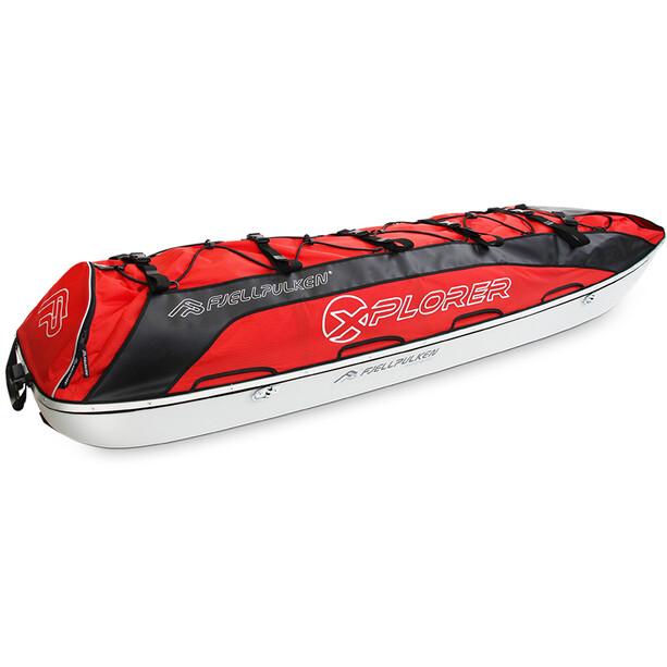 Fjellpulken Bunting Bag for Children's Pulk 120cm Kids black/red