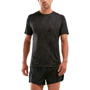 2XU GHST Shortsleeve T-Shirt Men black/corrosion black/corrosion