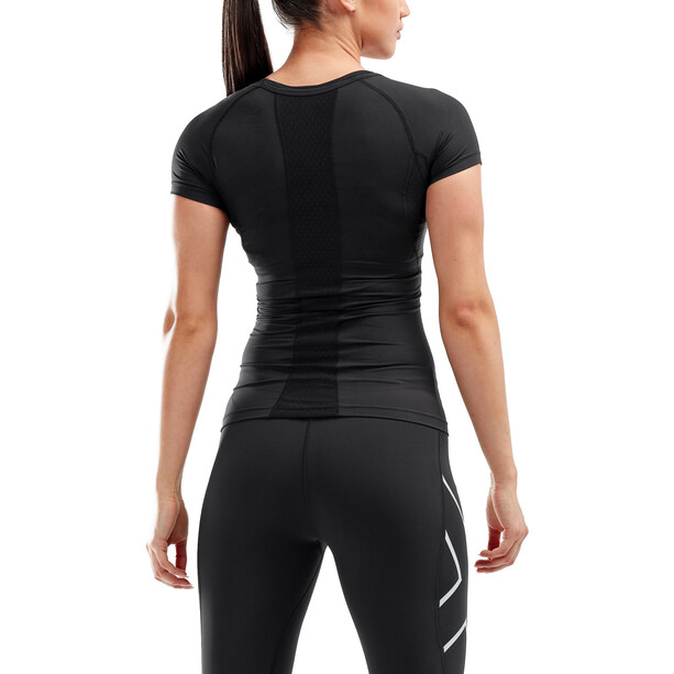 2XU Compression Kurzarm Oberteil Damen black