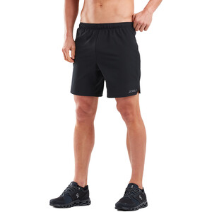 "2XU Xvent 7"" Shorts with Brief Men black/silver reflective black/silver reflective"