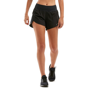 """2XU Xvent 4"""" Shorts with Brief Women black/silver reflective black/silver reflective"""