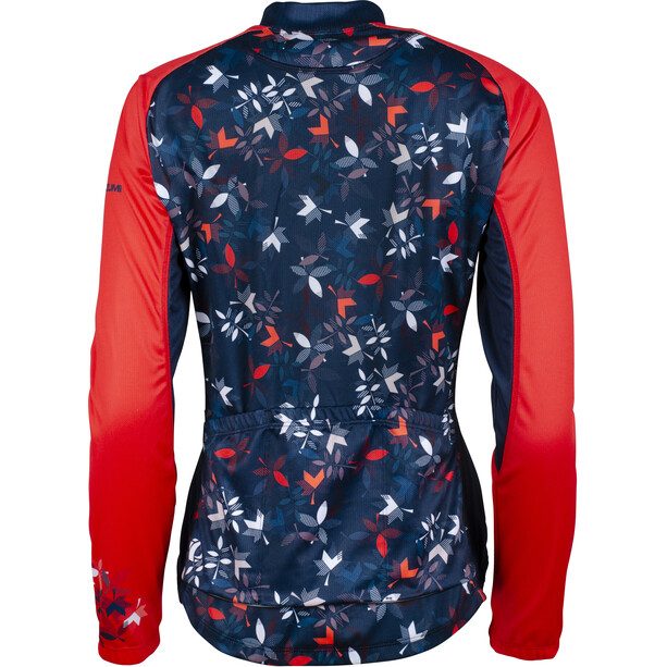 PEARL iZUMi Elite LTD Thermo Langarm Trikot Damen winterflower navy/screaming red