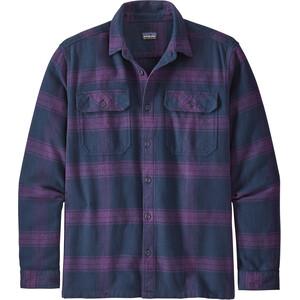Patagonia Fjord LS Flannel Shirt Herr burlwood/purple burlwood/purple