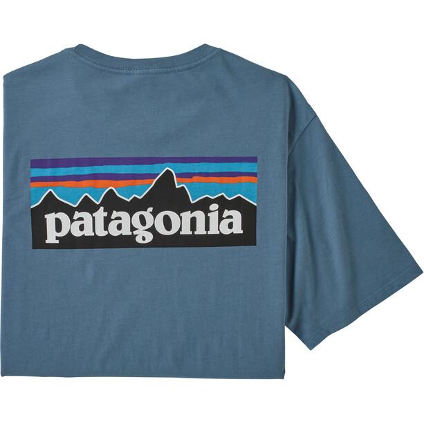 Patagonia P-6 Logo Organic T-Shirt Men pigeon blue