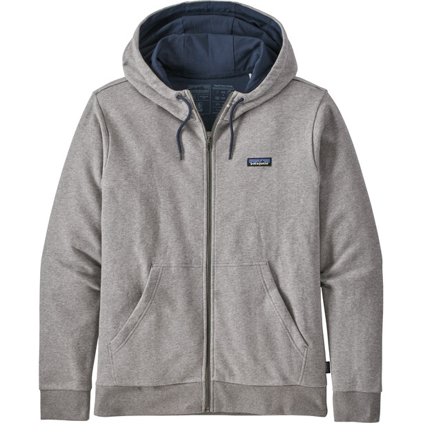 Patagonia P-6 Label French Terry Full-Zip Hoody Men feather grey