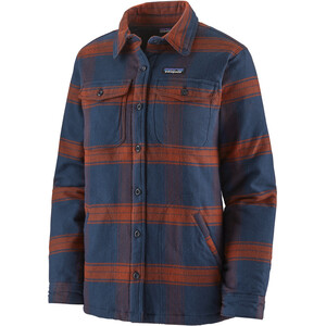 Patagonia Fjord Insulated Flannel Jacket Women burlwood/new navy burlwood/new navy