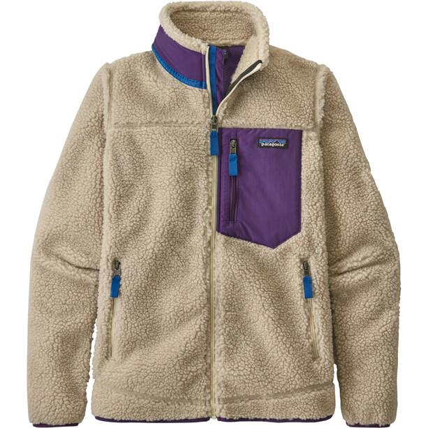 Patagonia Classic Retro-X Jacket Women natural w/purple