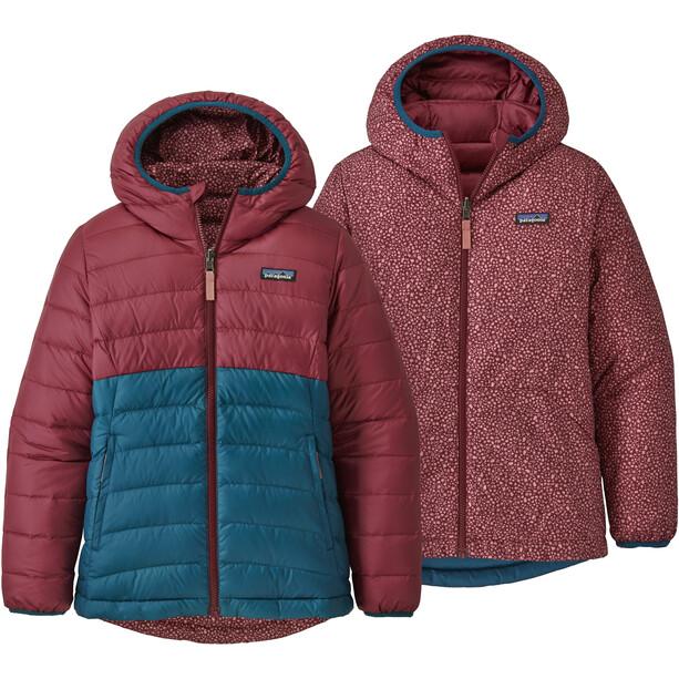 Patagonia Reversible Down Sweater Hoody Girls röd