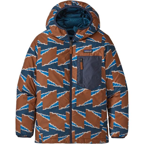 Patagonia Reversible Down Sweater Hoody Boys crater blue