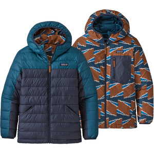 Patagonia Reversible Down Sweater Hoody Boys crater blue crater blue