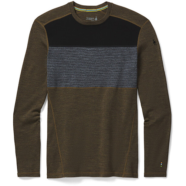 Smartwool Merino 250 Crew LS Baselayer Boxed Men military olive heather