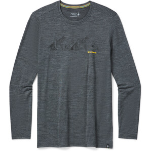Smartwool Merino Sport 150 Upper Slopes LS Graphic Tee Men medium gray heather medium gray heather