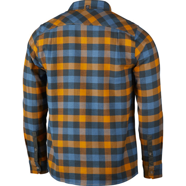 Lundhags Rask LS Shirt Men blå/gul