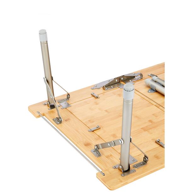 CAMPZ Utility Bambustisch 51x78x40 braun